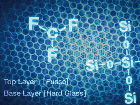 2層構造「超撥水」ガラス状被膜
